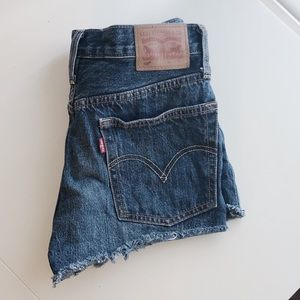 Levi's 501 High Waisted Jean Shorts
